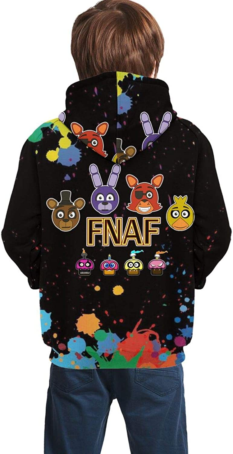 Five Nights at Freddy Youth Boys Girls 3D Print Pullover Hoodies Hooded Seatshirts Sweaters
