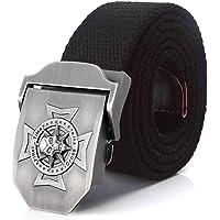 jeans Canvas Belt - 3D Skull Doji Military Tactical Men Belt, flerfärgad Heavy Duty Quick Release Dam manlig rem, 3,8 cm…