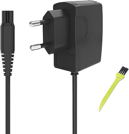 Neue Dawn Cargador de afeitadora eléctrica oneblade philips QP6520 QP6510 HQ8505 MG7770 HC7650 QP2510 RQ1250 AT751,AT752, AT753 AT890,AT890 AT891,Quadra,Sensotec, adaptador de corriente philips shaver: Amazon.es: Salud y cuidado personal