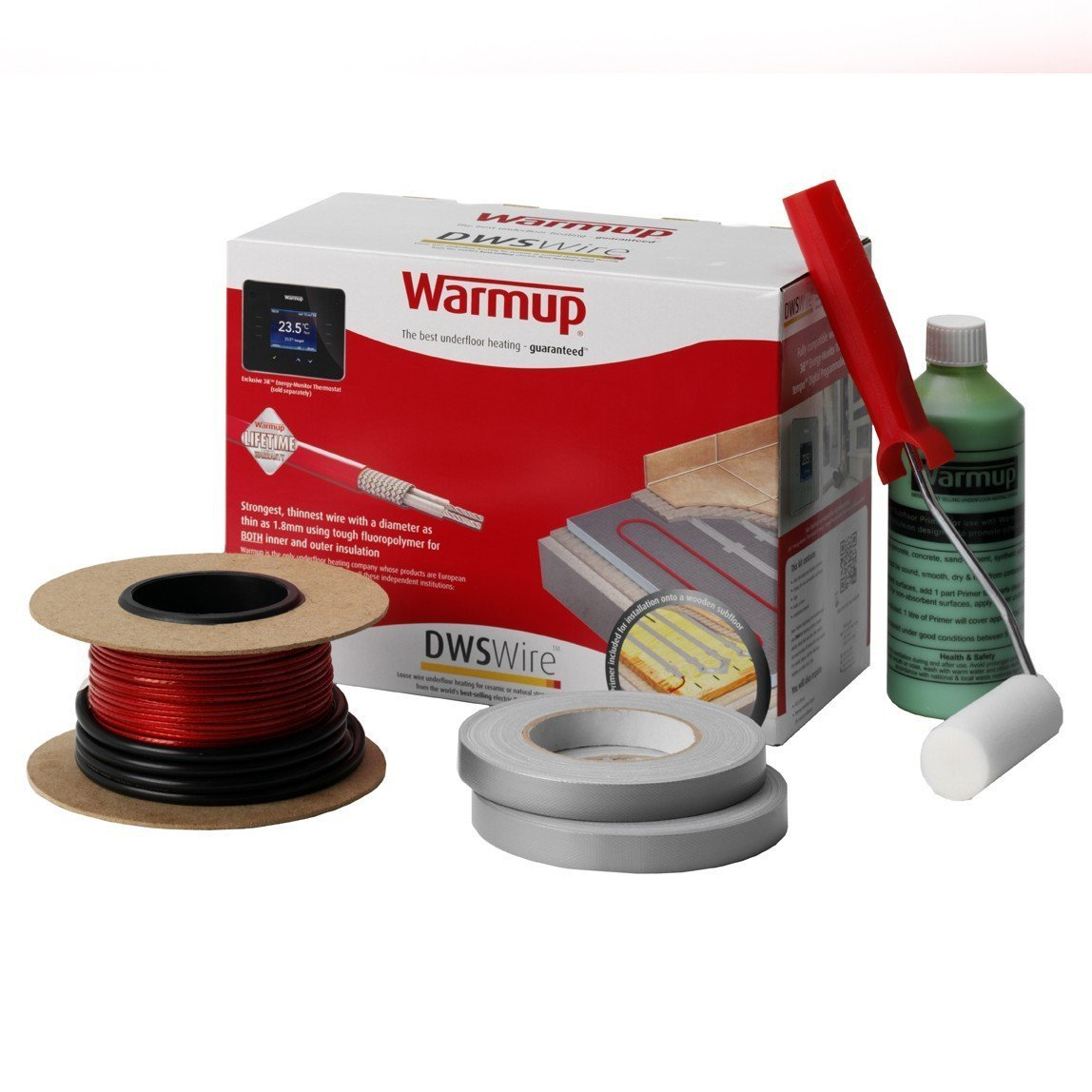 Warmup Underfloor Heating System DWS300 1.5-2.4 Sq/Mtr 300w Cable thickness: 2mm Lifetime Warranty DWS300