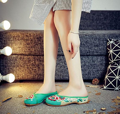 Green Chaussons Femme pour Lazutom Green pour Lazutom Femme Chaussons nXC4xUq6w8