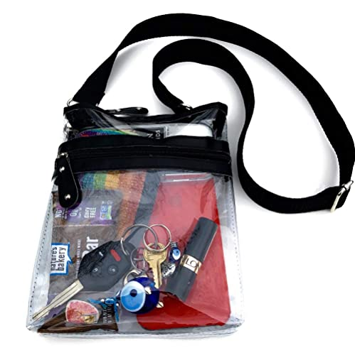 23252f363367 Clear Crossbody Messenger Bag with Adjustable Strap, NFL Stadium Clear Purse