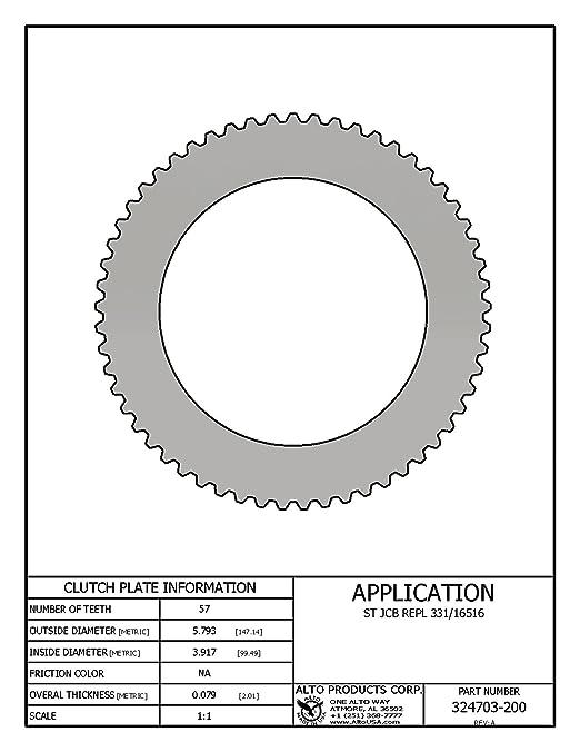 Steel Clutch JCB 331-16516 Replaced by Alto # 324703-200