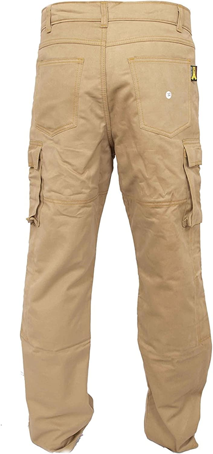 Newfacelook New Motorcycle Working Cargo Trousers Jeans Pants with Aramid Protective Lining