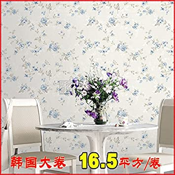 S D Hellblaue Tapete Im Schlafzimmer Zwei Wohnzimmer Stil Blaue