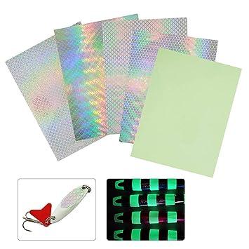 高輝度ルアーホログラムシールレーザー鱗模様ルアー補修防水粘着キラキラ反射シールタイプ計14パターンの画像