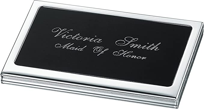Personalized evette silver plated business card case at amazon mens personalized evette silver plated business card case colourmoves