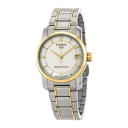 Tissot Reloj analógico para Mujer de automático con Correa en Acero Inoxidable T087.207.55.117.00: Amazon.es: Relojes