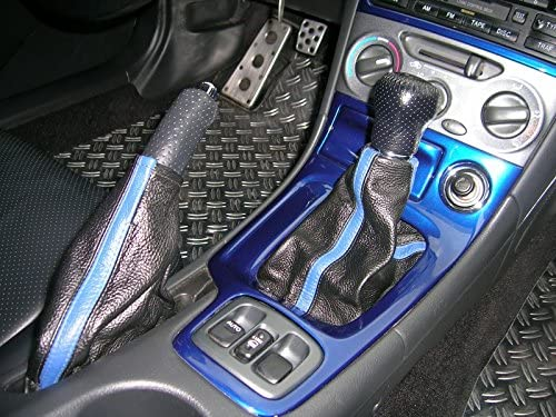 Black Alcantara-Blue Thread RedlineGoods ebrake Boot Compatible with Toyota Celica 2000-06