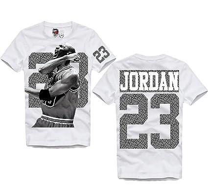 ed399ca75bb E1SYNDICATE Jordan 23 Dunk Dream Team Basketball T-Shirt HBA Chicago XS-XXL  White