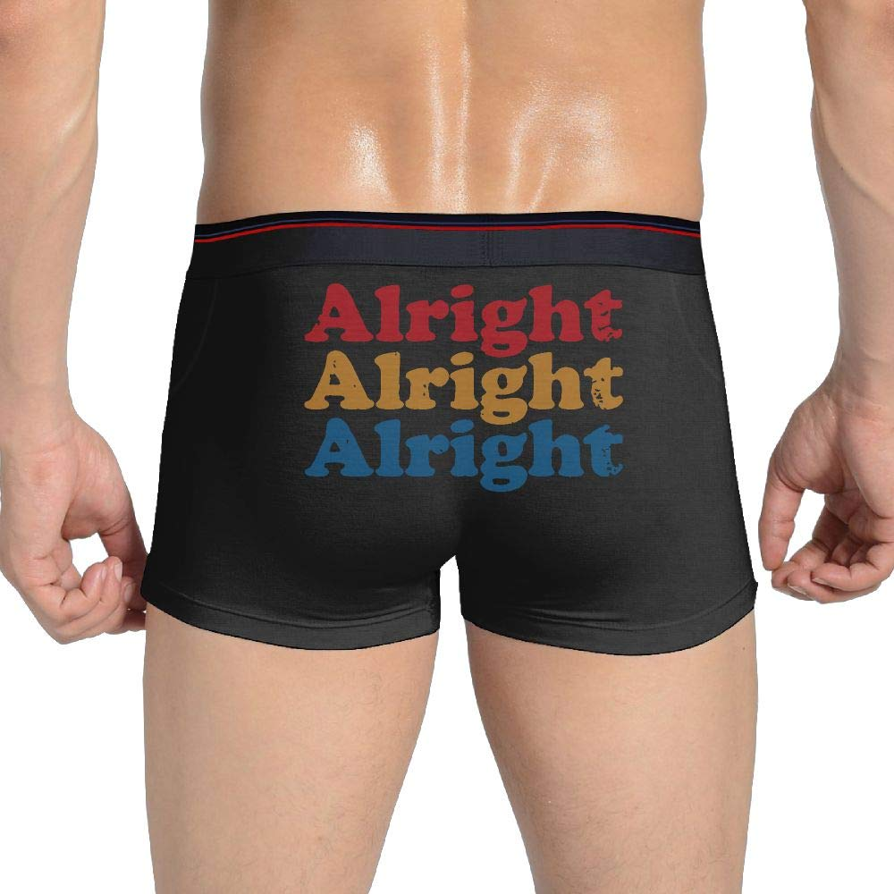 SIBoxKuM Alright Alright Alright Men Boxer Briefs Stretch Underwear Trunks