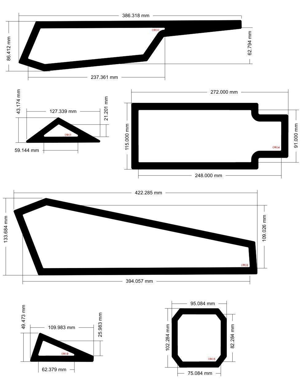 DEMCiflex Dust Filter Kit for Corsair Spec Alpha, Black Frame/Black Mesh by DEMCiflex (Image #2)