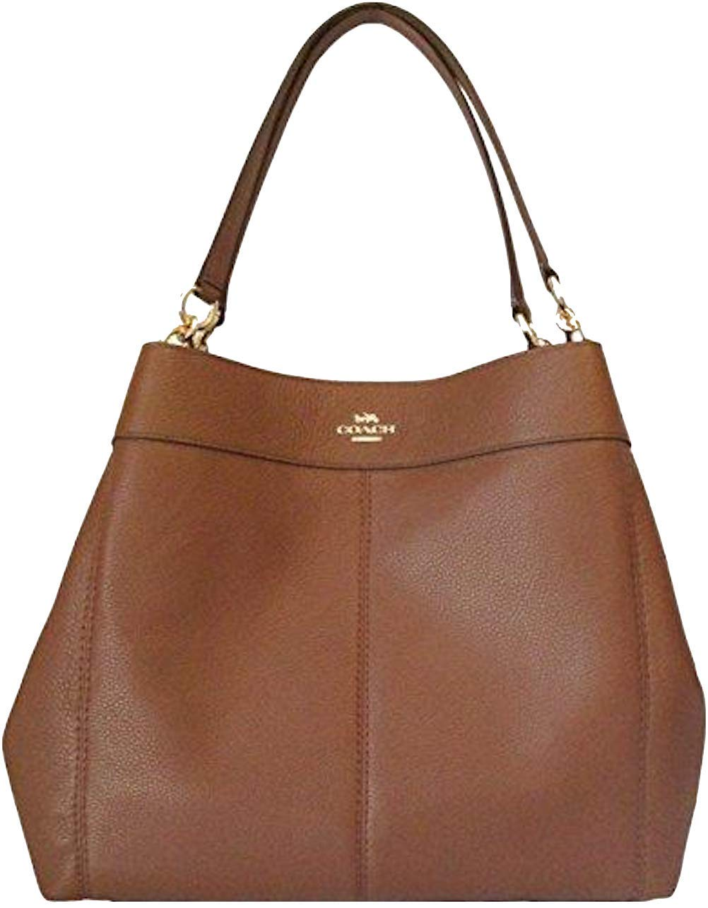 Coach Lexy Pebble Leather Shoulder Bag (Saddle 2)