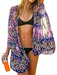 Womens Chiffon Bathing Suit Swimwear Bikini Swimsuit Beach Wear Cover up
