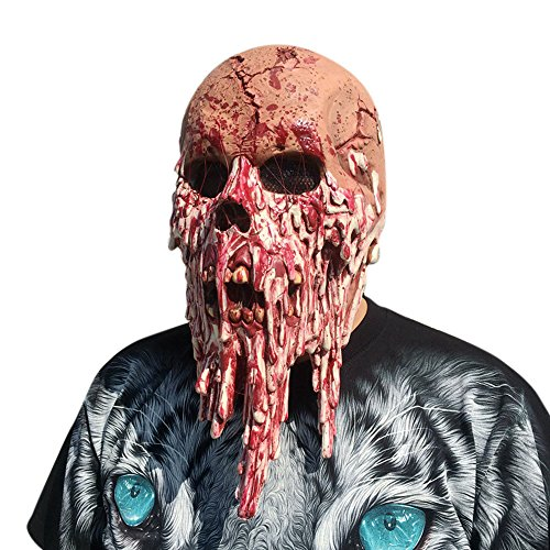 Scary Halloween Party Mask for Women Adults Kids,Bloody Zombie Mask Melting Face Walking Dead Masks (A) ()