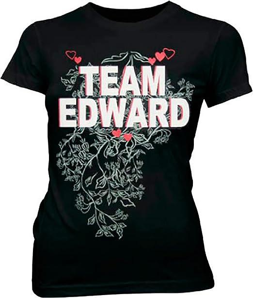 36e362f6b29 Amazon.com  Team Edward Vampire Black Juniors T-shirt Tee (Small ...