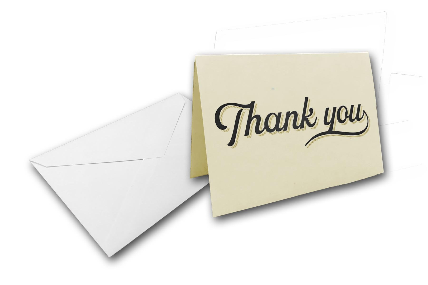 Blank Colored Thank You Cards with Envelopes - 40 Cards & 40 Envelopes Great for Wedding, Baby Shower, Business, Grad Party, Etc. (Natural)
