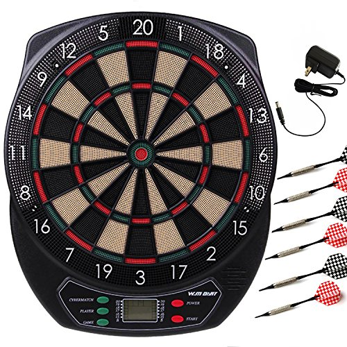 WIN.MAX Electronic Soft Tip Dartboard Set LCD Display with 6 Darts, 40 Tips, Power Adapter (Electronic Dart board) by WIN.MAX