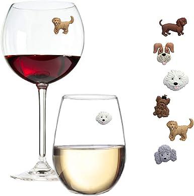Poodle Gift Dog Wine Glasses set of 4..Boxed