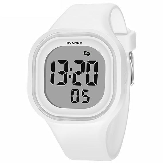 xlordx Joven Chica Fecha Digital Reloj de pulsera infantil Reloj Deportivo Para Niños Chica, Blanco Reloj Digital, resistente al agua reloj: Amazon.es: ...