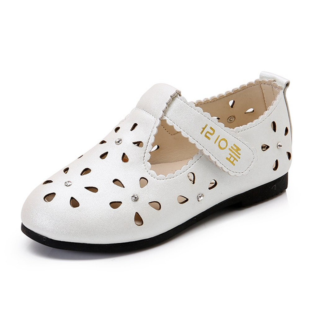 Girls T-Strap Oxford Shoes Hollow Out Mary Jane Flats Closed Toe Princess Dress Shoes (Toddler/Little Kid)