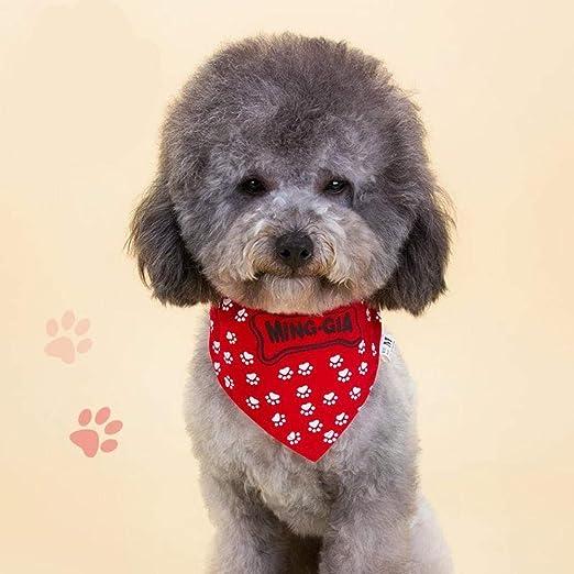 MJBABY Mascotas Gatos y Perros Toalla de Saliva triángulo Bufanda Babero Collar Babero Peluche de Oro Cabello Saliva Toalla algodón Fino Collar de Perro Grande Collar-S: Amazon.es: Productos para mascotas
