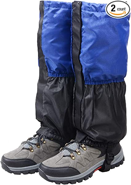 L Waterproof Climbing Snow Walking Trekking Legging Ankle Boot Gaiters Cover S