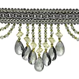 Expo International Isabella Scalloped Bead Fringe Trim, 10 yd., Gray/Multicolor