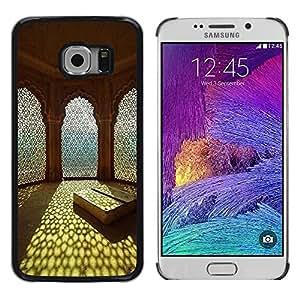 TopCaseStore / la caja del caucho duro de la cubierta de protección de la piel - Islam Sun Summer Architecture Religion - Samsung Galaxy S6 EDGE SM-G925