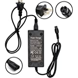 Wyness 100-240V 50/60Hz 42V 2A Electric Scooter Battery Charger 3-Prong Inline Connector