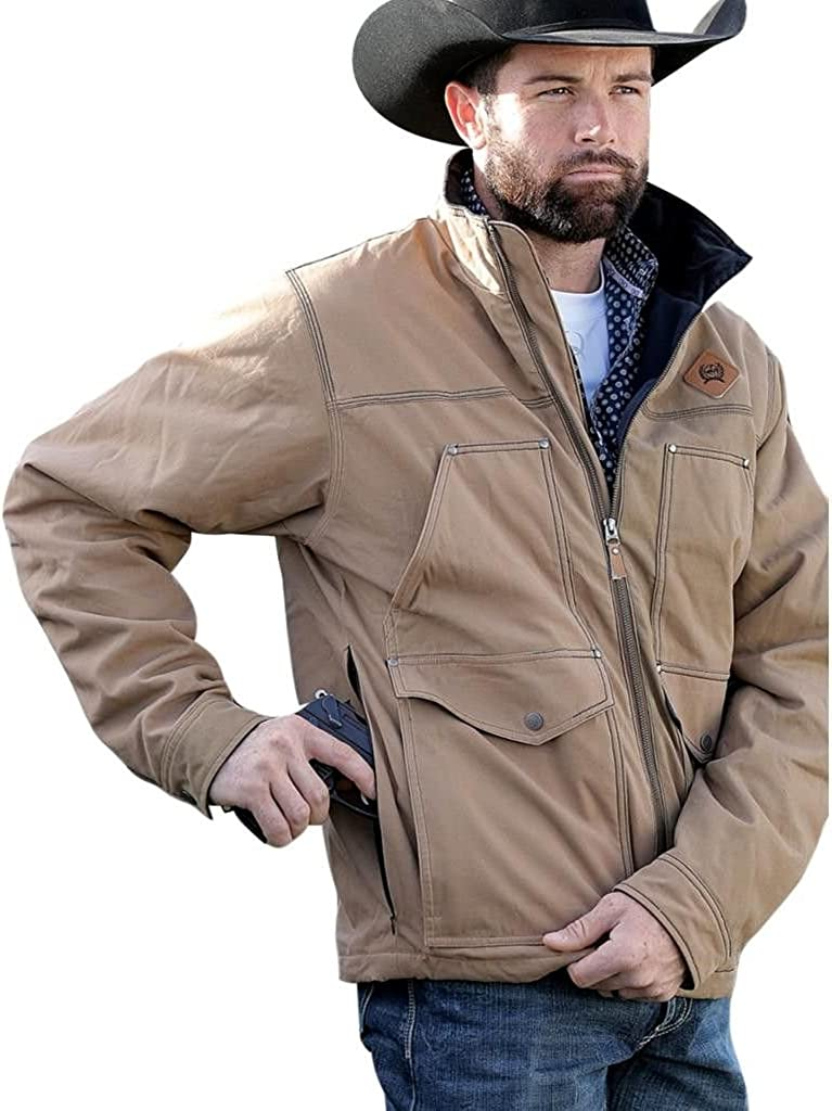 Cinch Mens Canvas Jacket with Concealed Carry Pockets