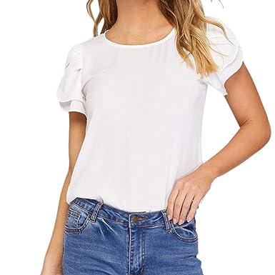 f234f27e Amazon.com: JQjian Summer Womens Solid Short Sleeve T Shirt O-Neck Bat  Sleeve Blouse Casual Loose Tops: Clothing