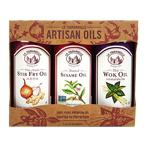 Marinade Fry Stir (La Tourangelle Asian Flavors Trio of Oils - Toasted Sesame Oil, Thai Wok Oil, Pan Asian Stir Fry Oil Gift Set - 3 x 8.45 Fl. Oz.)