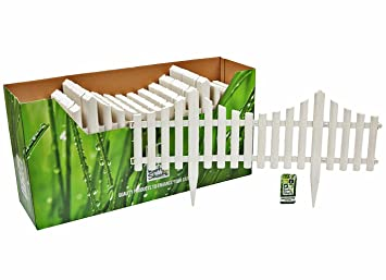 Flexible Plastic Garden Border Fence Lawn Grass Edge Path Edging Picket  Flower. (8 Section