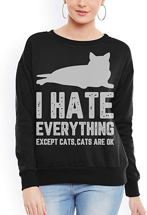When I Die The Cat Gets Everything Funny Cats Women Sweatshirt tee
