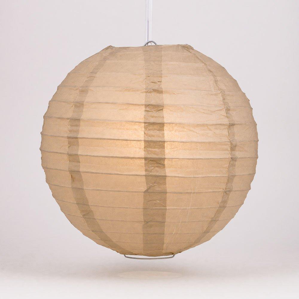 球体ペーパーランタン うね織り模様 ぶらさげるのに(電球は別売り) 8 Inch 8EVP-LT 1 8 Inch Mocha / Light Brown Mocha / Light Brown 8 Inch B00T5E3XO2