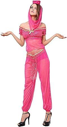 Sexy Genie Costume - Arabian Belly Dancer Princess Halloween Costume for Women