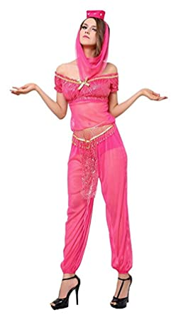 Sexy Belly Dancer Costume - Women Arabian Princess Halloween Costume (S)  sc 1 st  Amazon.com & Amazon.com: Sexy Genie Costume - S M L XL XXL Arabian Belly Dancer ...