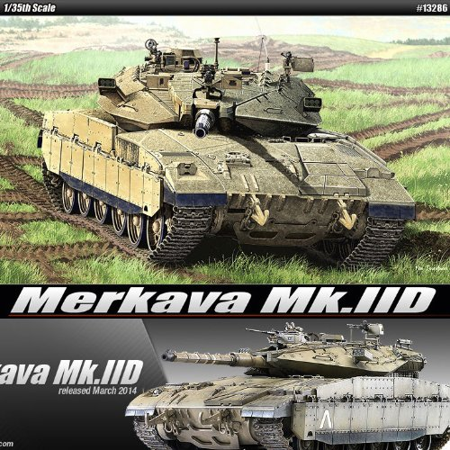 1 35 Merkava Mk.IID Mk 2D 13286 - Plastic Model Kits by Academy Models