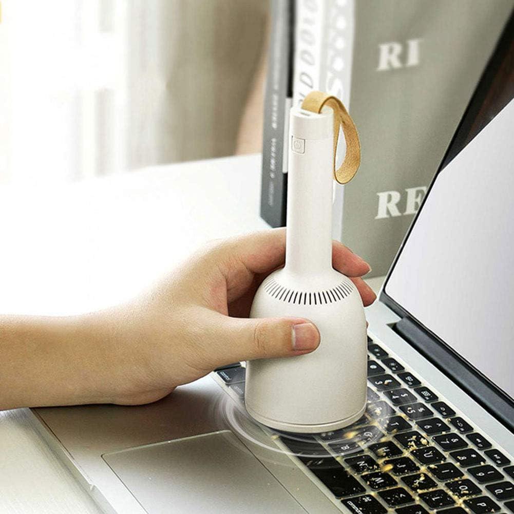 DXFK.AM Bureau Aspirateur Mini Portable sans Fil Rechargeable par USB Nettoyage De Table pour La Voiture Accueil Poils d\'animaux Poussière Les Miettes,Jaune White