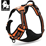 TrueLove Dog Harness TLH5651 No-pull Reflective Stitching Ensure Night Visibility, Outdoor Adventure Big Dog Harness Perfect Match Puppy Vest (Orange,M)