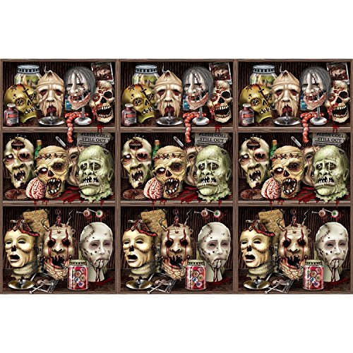 Beistle Scary Heads Backdrop,