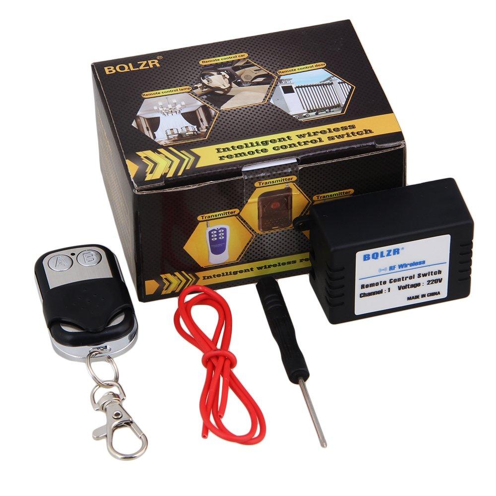 BQLZR AC 220V 433MHZ 1CH Wireless Remote Control Switch Transmitter 10A Relay Module