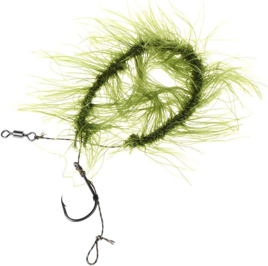 Lergo 2 St/ück Angelhaken mit Unkrautschnur Terminal Tackle Karpfen-Zubeh/ör Hair Rig 4 Size