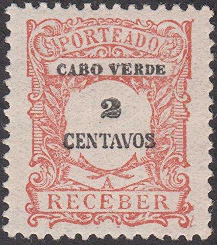 Cape Verde Tax Collection 2 Centavo Postage Stamp