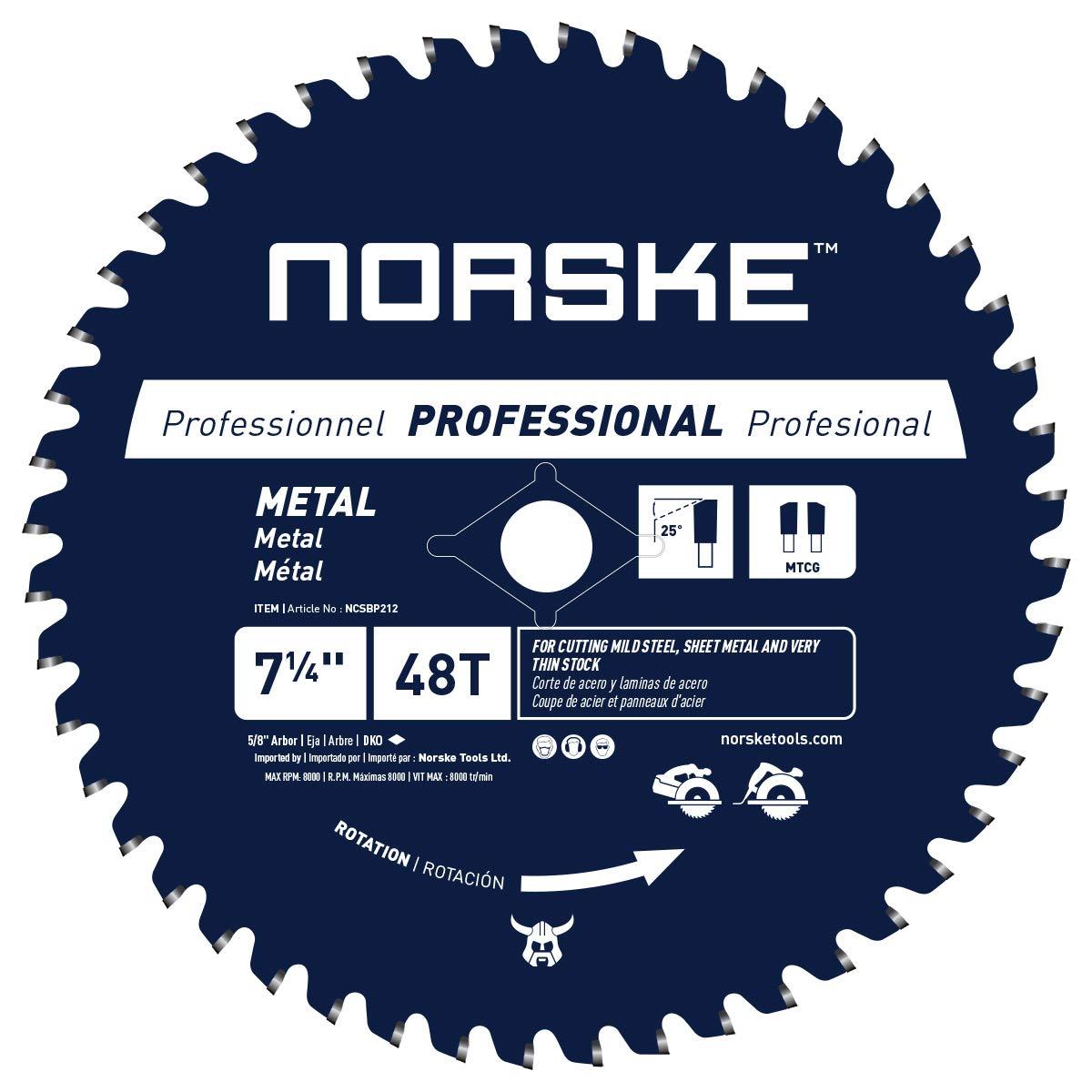Disco Sierra NORSKE NCSBP212 7 1/4 x 48T Corte de metal pa