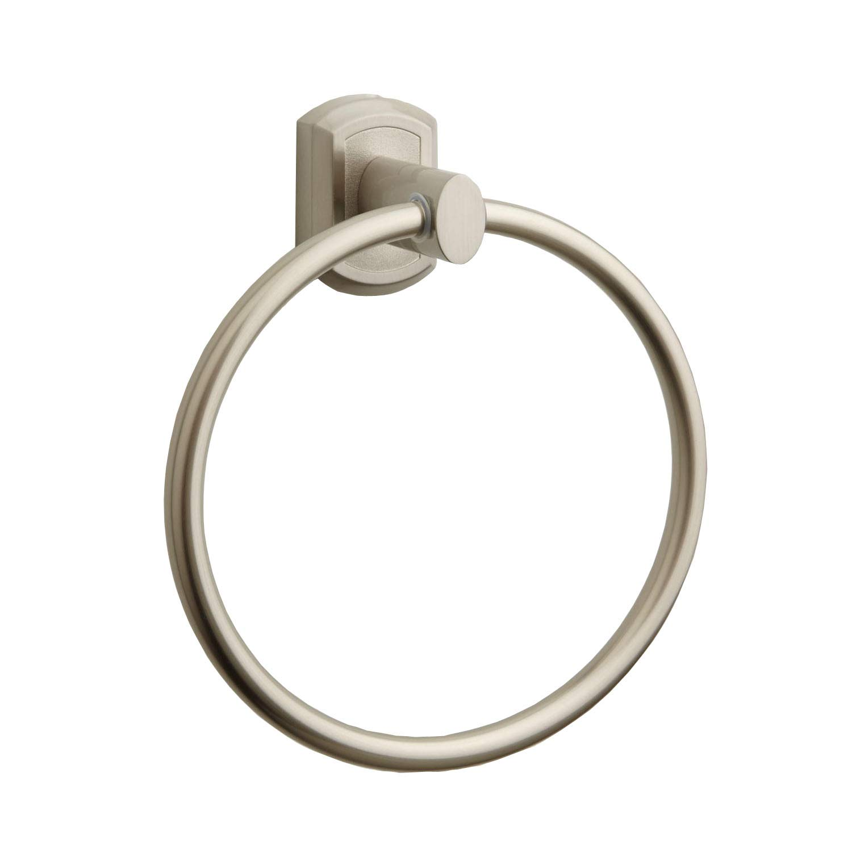 Naiture Zinc/Aluminum Bathroom Lavatory Hardware Towel Ring Towel Holder in Chrome Finish