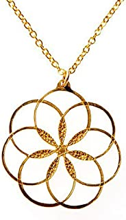 "product image for 7 Rings of Peace Gold-Dipped Pendant Necklace on 18"" Rolo Chain"