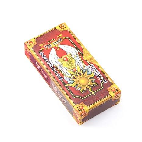 Outtybrave Creative Girl Little Sakura Tarot Change Cherry Magic Card Tarjeta de felicitación small Red S