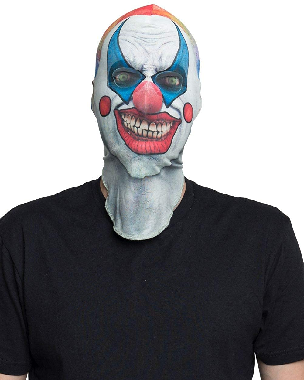 Faux Real Unisex-Adults 3D Photo-Realistic Halloween Full Fabric Face Mask